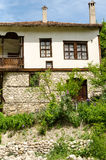 Street view of Melnik traditional architecture, Bulgaria Stock Images