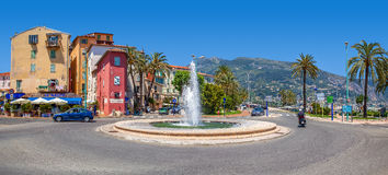 Street view of Menton, France. Stock Images