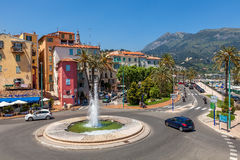 Street view of Menton. Stock Image
