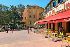 Street view in Menton, France. Royalty Free Stock Photo