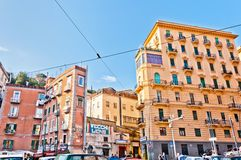 Street view of Mergellina quarter in Naples, Italy Stock Photo