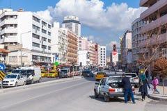 Street view of modern Izmir city Stock Photos