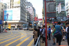 Street view in Mong Kok Hong Kong Stock Images