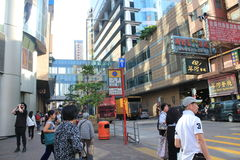 Street view in Mong Kok, Hong Kong Royalty Free Stock Image
