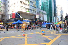 Street view in Mong Kok, Hong Kong Royalty Free Stock Photos