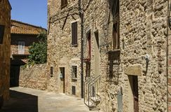 Street view of Montepulciano,Tuscany,Italy stock image