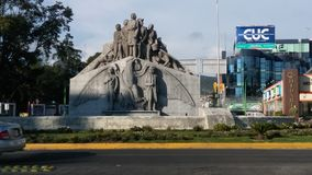 Independence monument Pachuca Mexico. Street view of monument,Pachuca Mexico royalty free stock photos