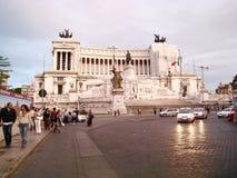 Street view of Monumento Nazionale a Vittorio Emanuele II Stock Photos