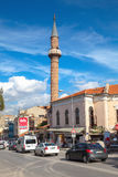 Street view with mosque. Izmir, Turkey Royalty Free Stock Photography