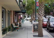 Street view of Mount Dora town Royalty Free Stock Image
