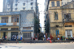 Street view in Myanmar Yangon Royalty Free Stock Photography