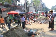 Street view in Myanmar Yangon Royalty Free Stock Image