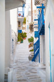 Street view on Mykonos Royalty Free Stock Images
