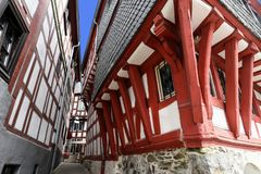 Limburg Lahn, half-timbered houses royalty free stock photo