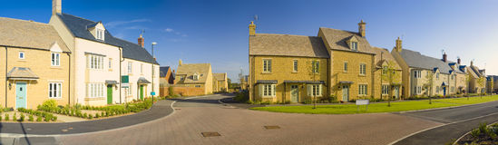 Street view of new houses Stock Image