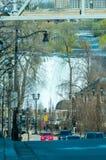 Street view in Niagara Falls town Canada Royalty Free Stock Image
