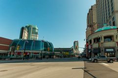 Street view in Niagara Falls town Canada Stock Photos