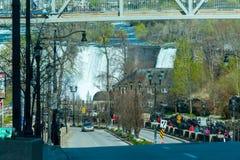 Street view in Niagara Falls town Canada Royalty Free Stock Photo