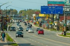 Street view in Niagara Falls town Canada Stock Photography