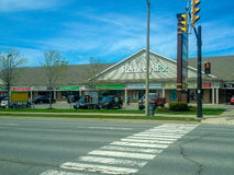 Street view in Niagara Falls town Canada Stock Photo