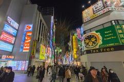Street view of night Tokyo Shinjuku Royalty Free Stock Images