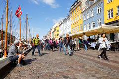 Street view of Nyhavn Royalty Free Stock Photography