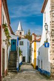 Street view of Obidos - Portugal Royalty Free Stock Photography