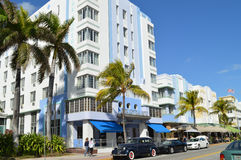 Street view of Ocean Drive, Miami Beach, Florida Stock Image