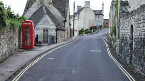 Street View Of An English Town Royalty Free Stock Images