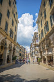 Street View Of Corfu, Greece Stock Image