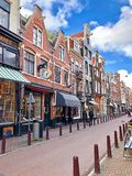 Street view of Old Amsterdam royalty free stock images