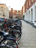Street view of Old Amsterdam stock photo