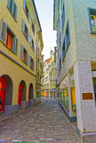 Street view on the Old City of Chur Stock Photography