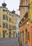 Street view in the Old city of Linz in Austria Royalty Free Stock Image