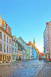 Street view in the Old city of Riga in Latvia at Christmas time Stock Images