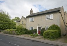 Old cottage in an English Village. Street view of an old  cottage in the pretty village of Foxton, Cambridgeshire, England, UK Royalty Free Stock Photography