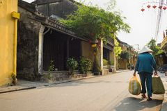 Street view with old houses in Hoi An ancient town, UNESCO world heritage. Hoi An is one of the most popular destinations in Vietn. Am Stock Photo