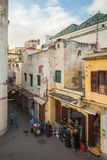 Street view of old Medina area in Tangier royalty free stock photography