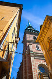 Street view of old Stockholm town Royalty Free Stock Photography