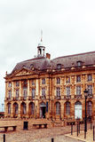 Street view of old town in bordeaux city Royalty Free Stock Photos