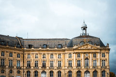 Street view of old town in bordeaux city Royalty Free Stock Images