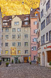 Street view of the Old Town of Chur royalty free stock photo