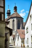 Street view of OLD Town Fribourg Royalty Free Stock Images