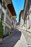 Street view of OLD Town Fribourg Royalty Free Stock Photography