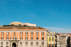 Street view of old town in Naples city Royalty Free Stock Images