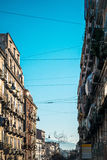 Street view of old town in Naples city Royalty Free Stock Photos