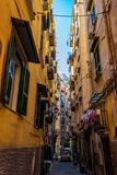 Street view of old town in Naples city, italy Europe royalty free stock images