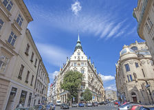 Street view in the Old Town in Prague. Royalty Free Stock Photos