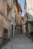Street view of old town in rovinj  city, croatia  Europe Stock Images