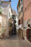 Street view of old town in rovinj  city, croatia  Europe Royalty Free Stock Photography